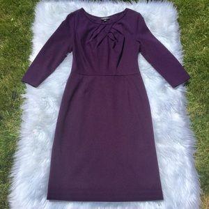 Adriana Papell Dark Purple Midi Dress Size 10